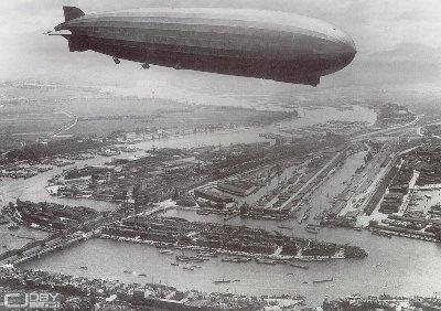 英国飞艇往返飞越大西洋成功