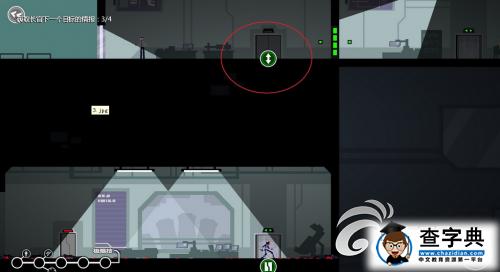红圈了吗 这个按钮点一下的功能 是让电梯自己上去.-浪人 不惊动平