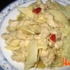 冬笋炒鸡片